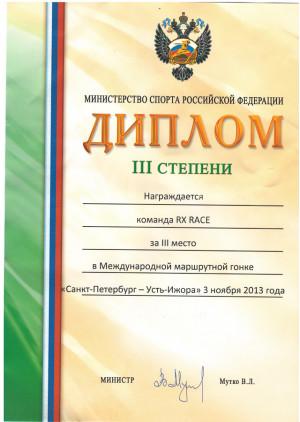 Диплом министерство спорта РФ
