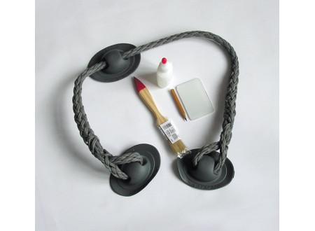 Леер (шнур 14 мм) длиной 0,8 м на 3-х рымах ПВХ